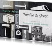 Verhuiskaarten - Verhuiskaart illustraties zwart wit foto