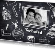 Kerstkaarten - Verhuiskaart kerst en klussen