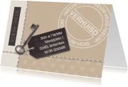 Verhuiskaarten - Verhuiskaart kraftpapier look av