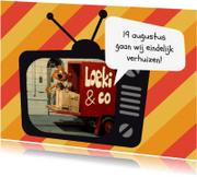 Verhuiskaarten - Verhuiskaart Loeki tv auto -A