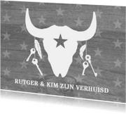 Verhuiskaarten - Verhuiskaart skull & stars
