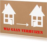 Verhuiskaarten - Verhuiskaart Verhuizen karton