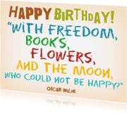 Verjaardagskaarten - Verjaardag Happy Moon IW