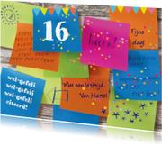 Verjaardagskaarten - verjaardag tiener memo vrolijk