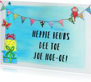 Verjaardagskaarten - Verjaardagskaart Heppie J PA