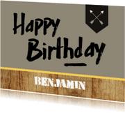 Verjaardagskaarten - Verjaardagskaart jongen trendy