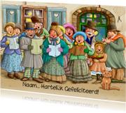 Verjaardagskaarten - Verjaardagskaart klassiek koor met Hartelijk Gefeliciteerd