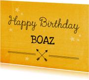 Verjaardagskaarten - Verjaardagskaart tiener pijl