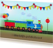 Verjaardagskaarten - Verjaardagskaart trein