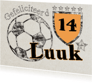 Verjaardagskaarten - Voetbal met leeftijd en naam-ByF