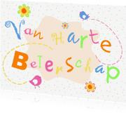 Beterschapskaarten - Vrolijke Beterschapskaart bloem