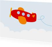 Kinderkaarten - Vrolijke kinderkaart met vliegtuig