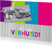 Verhuiskaarten - Vrolijke verhuiskaart eigen foto