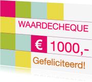 Kaarten mailing - Waardecheque kaart