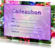 Kaarten mailing - Wenskaart Cadeaubon Bloemen