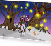 Kerstkaarten - Wonderlijk kerstlandschap