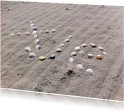 Moederdag kaarten - xje schelpen met zand