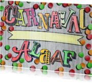 Carnavalskaarten - YVON carnaval alaaf hout