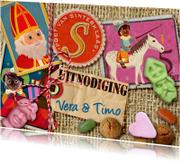 Sinterklaaskaarten - YVON sinterklaaskaart zwarte piet label
