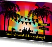 Uitnodigingen - zomerse uitnodiging Beach L-HB
