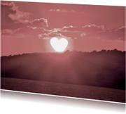 Liefde kaarten - zonshart roze