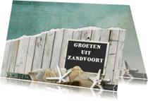 Vakantiekaarten - 14197 Strandkaart groetjes uit..