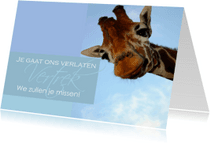 Succes kaarten - Afscheidskaart voor een collega