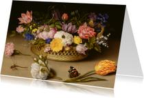 Bloemenkaarten - Ambrosius Bosschaert. Stilleven met bloemen