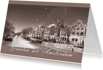 Ansichtkaarten - Ansichtkaart - Amsterdam  Winter