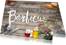 Uitnodigingen - Barbecue uitnodiging met wijn en bier