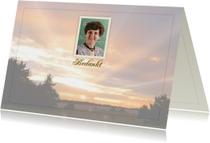 Rouwkaarten - Bedankkaart met foto van de Veluwe en tekstvoorstel