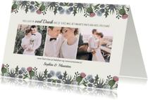 Trouwkaarten - Bedankkaart wilde bloemen