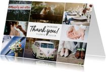 Trouwkaarten - Bedankkaartje huwelijk fotocollage 8 foto's