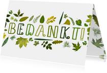 Bedankkaartjes - Bedankt groene blaadjes