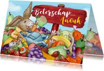 Beterschapskaarten - Beterschap fruit dieren grappig