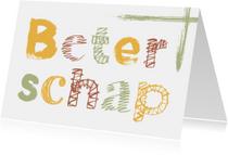 Beterschapskaarten - Beterschap hippe letters