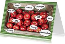 Beterschapskaarten - beterschap mand met appels