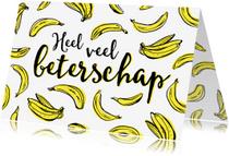 Beterschapskaarten - Beterschapskaart bananen