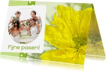 Paaskaarten - Bloemenkaart Pasen geel - BK