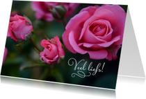 Bloemenkaarten - Bloemenkaart rozen veel liefs