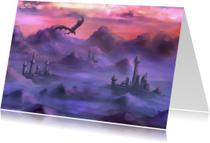 Kunstkaarten - Boven de wolken