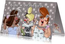 Kerstkaarten - Champagnekerst