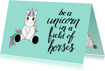 Coachingskaarten - Coaching be a unicorn-ST