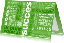 Succes kaarten - Coaching Tekst Groen