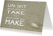 Coachingskaarten - Coachingskaart life is about