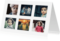 Kinderfeestjes - Collage kaart kinderfeestje - DH