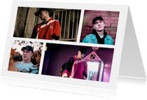 Collage Uitnodiging met 4 foto's