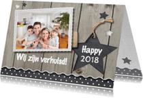 Kerstkaarten - Combi kerst- en verhuiskaart - LO