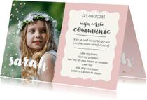 Communiekaarten - Communie - met foto en confetti