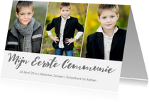Communiekaarten - Communiekaart jongen 3 foto's